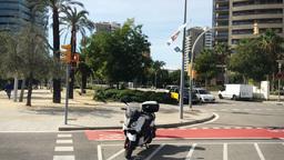 Barcelona Street View Profile Footage