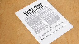 4K Signing Long Term Contract Footage