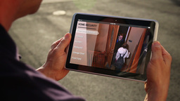 Monitor Home Security with Tablet PC Footage