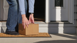 Homeowner Gets Package Delivery on Doorstep Footage
