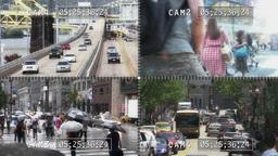 4K City Surveillance Cameras Footage