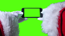4K Santa Claus Uses Greenscreen iPhone Footage
