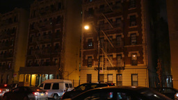 4K New York Style Apartment Building Establishing Shot Footage