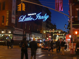 Little Italy Establishing Shot Footage