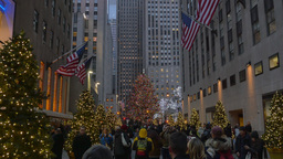 4K Rockefeller Center Christmas Tree Footage