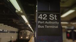4K 42nd Street Subway Platform Footage