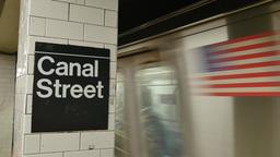 4K Canal Street Subway Platform Footage
