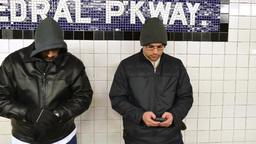 4K Man Steals Smartphone in Subway Station Footage