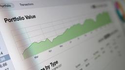 4K Investment Retirement Portfolio Report Footage
