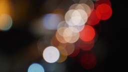 Abstract Night Bokeh Traffic Footage
