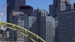 Pittsburgh City Skyline Buildings Footage