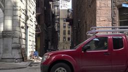 City Alley Establishing Shot Footage