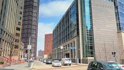 Pittsburgh Intersection Establishing Shot Footage