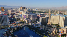 Aerial View of the Las Vegas Strip During the Day Footage
