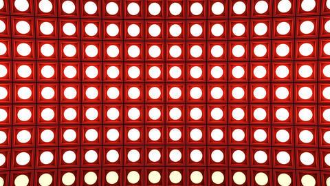 Lights flashing wall bulbs pattern static horizontal red stage background vj GIF