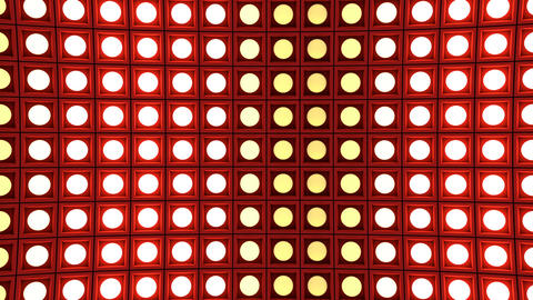 Lights flashing wall bulbs pattern static vertical red stage background vj loop Animation