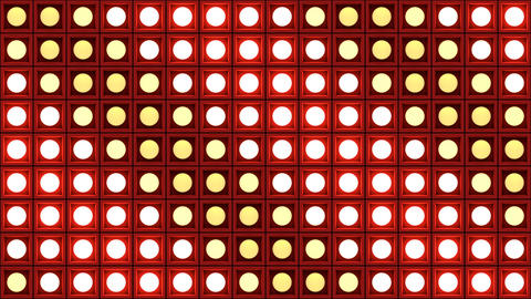 Lights flashing wall bulbs pattern static diagonal red stage background vj loop Animation