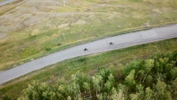 Motorcycles Bikes On The Country Road ビデオ