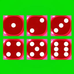 Red dices on a green background Vector ベクター