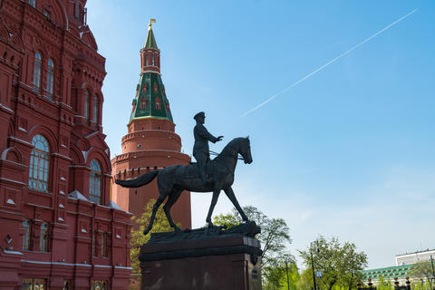 The Monument To Georgy Zhukov. Arsenal tower of the Moscow Kremlin フォト