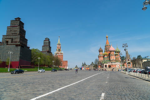 May 4, 2018. Russia. Moscow. Vasilevsky descent square. View of St. Basil's フォト