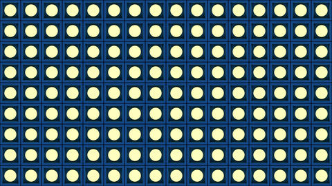 Lights flashing wall bulbs pattern static flash stage…, Stock Animation