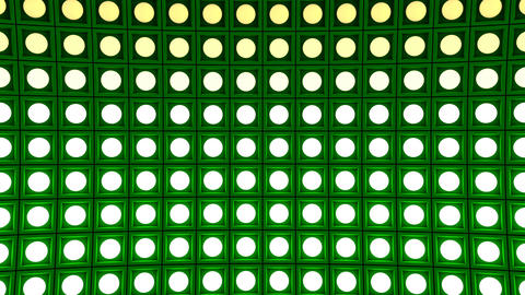 Lights flashing wall bulbs pattern static horizontal green stage background vj Animation