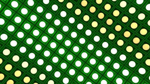 Lights flashing wall bulbs pattern rotation stage green…, Stock Animation