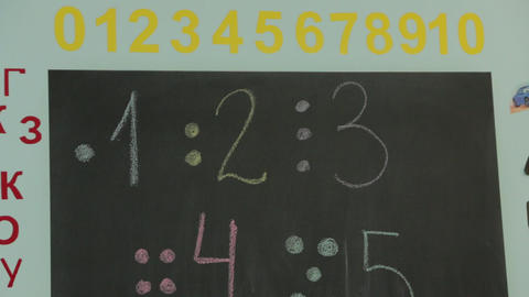 Educational Board In Kindergarten Footage