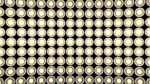 Lights flashing wall bulbs pattern static horizontal white stage background vj Animation