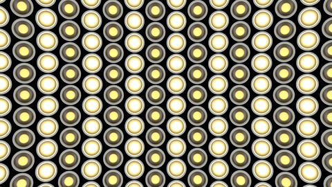 Lights flashing wall bulbs pattern static diagonal white stage background vj Animation