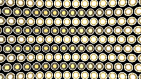 Lights flashing wall bulbs pattern rotation stage white background vj loop Animation