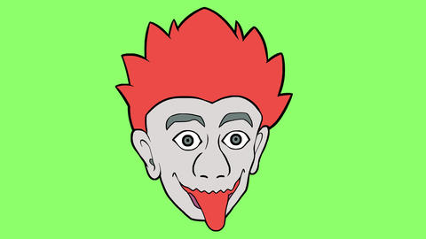 Cartoon head 4 Animation