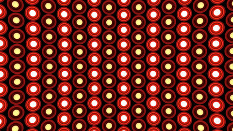 Lights flashing wall round bulbs pattern static diagonal red stage background vj Animation