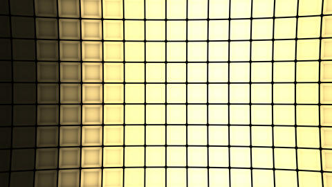 Lights flashing wall cubes bulbs pattern static vertical stage background vj Animation