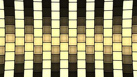 Lights flashing wall cubes bulbs pattern static diagonal stage background vj Animation