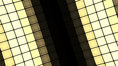 Lights flashing wall cubes bulbs pattern rotation stage background vj loop Animation