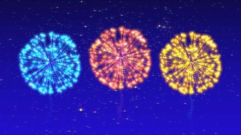 Fireworks CG Summer festival GIF
