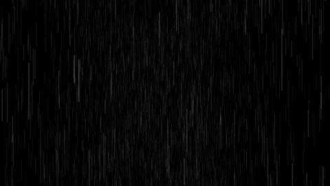 4K Rain On Black Overlay Animation