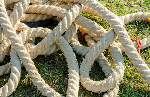 The shabby thick rope Photo