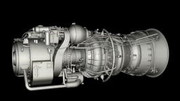 3D animation of auxiliary power unit Footage
