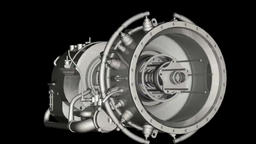 3D animation of auxiliary power unit Stock Video Footage