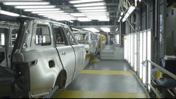 Automobile factory. Car production Footage