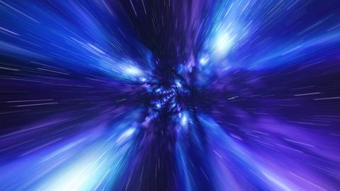Jump in Time vortex tunnel blue galaxy background フォト