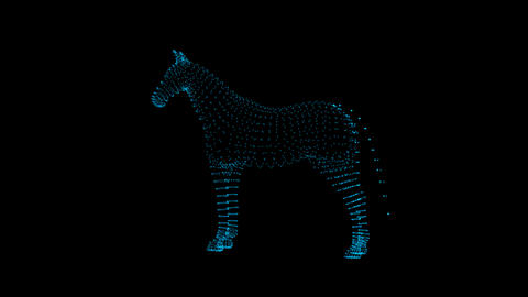 Horse Hologram Videos animados