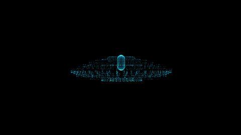 UFO hologram Animation