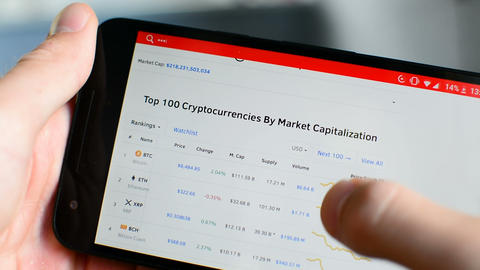 Bitcoin, Ethereum, other altcoin cryptocurrency price index on coinmarketcap Live Action