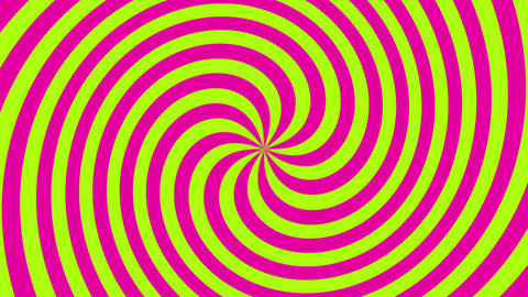 Pink Green Spiral Animation