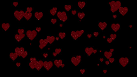 Glitter Hearts Animation