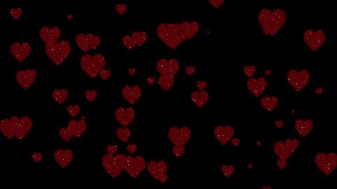 Glitter Hearts Stock Video Footage